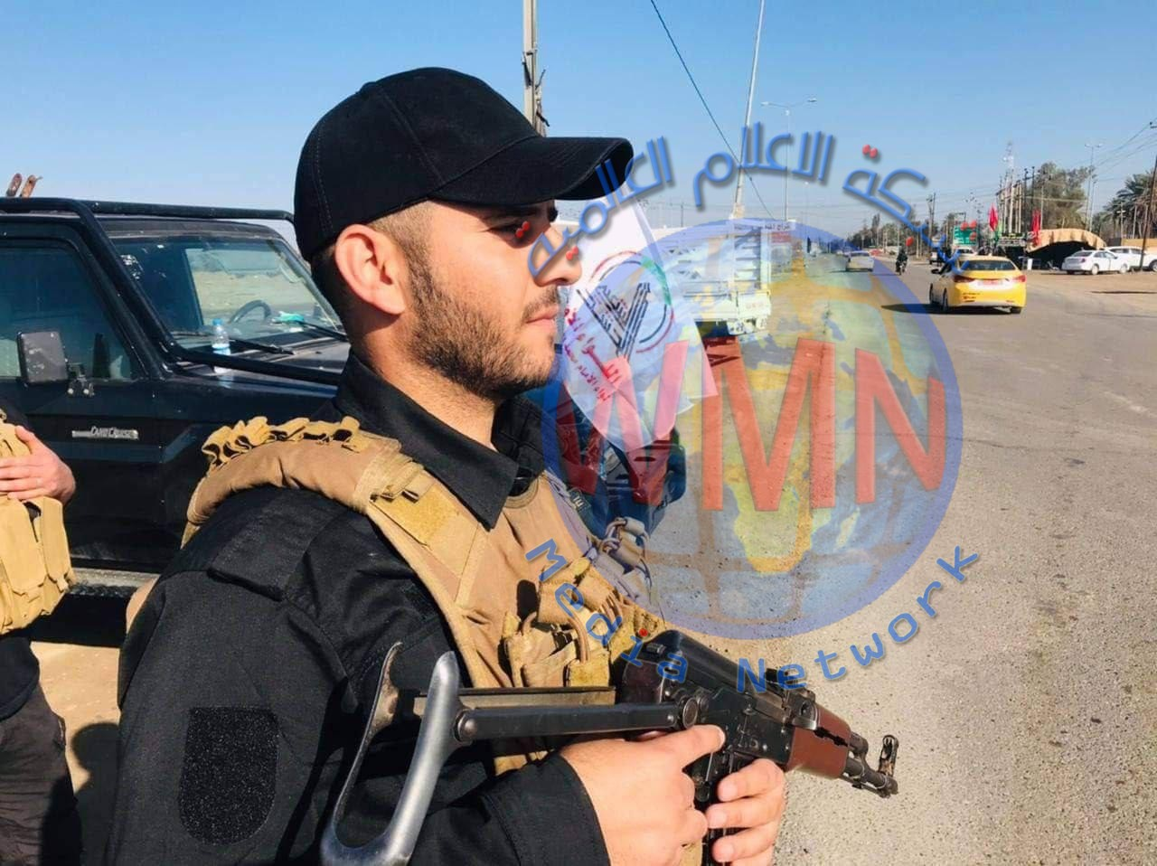 اللواء الأول للحشد يكثف انتشار قطعاته لتأمين الزائرين بذكرى استشهاد الإمام علي الهادي( ع) في سامراء