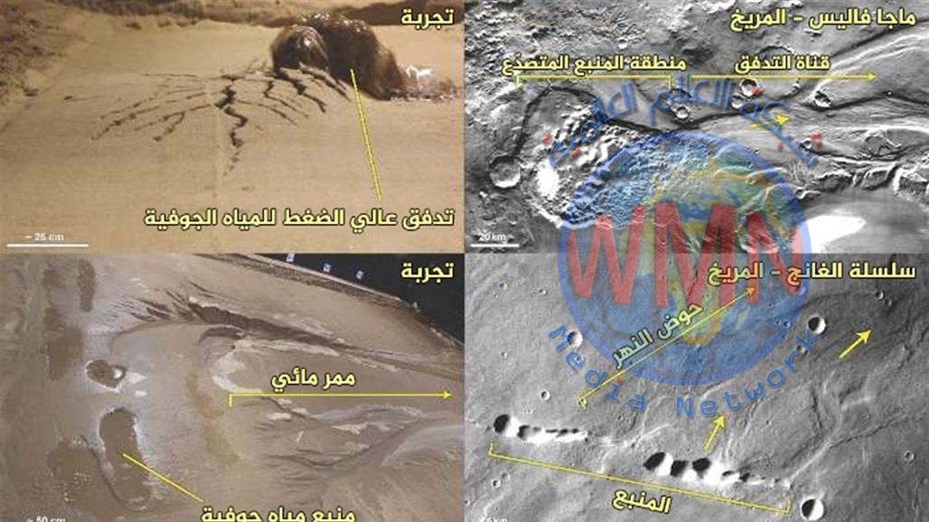 ناسا: وجود كميات من المياه في قشرة كوكب المريخ