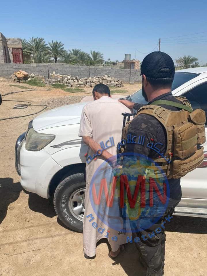 اللواء 27 بالحشد الشعبي يلقي القبض على مطلوبين وفق المادة 4 / إرهاب في الانبار
