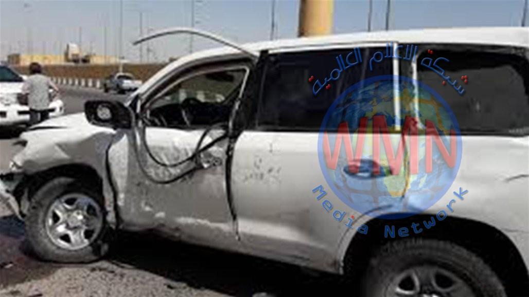 اصابة ضابطين إثر انقلاب عجلتهم في بغداد