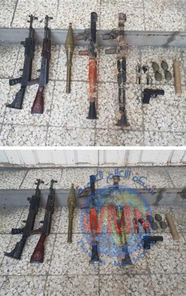 اعتقال (11) متهما بنزاع عشائري ومصادرة اسلحتهم في منطقة الكمالية